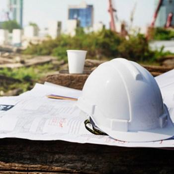 helmet on construction site