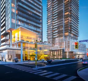 Brimley & Progress Condos - Street Level View - Exterior Render 2