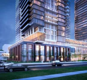 Brimley & Progress Condos - Street Level View - Exterior Render 4