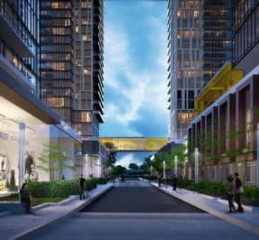 Brimley & Progress Condos - Street Level View - Exterior Render 5