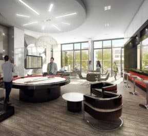 Danforth Square Condos - Party Room - Interior Render