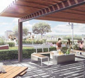 Danforth Square Condos - Rooftop Amenity Area - Exterior Render