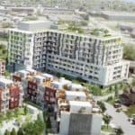 Danforth Square Condos & Towns - Bird's Eye View - Exterior Render