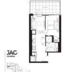 JAC Condos - Jason (T) 448 - Floorplan